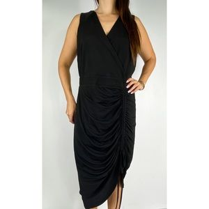 CITY CHIC Black Ruched Bodycon Dress Plus Size S